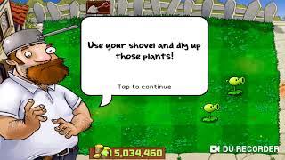 Plants vs Zombies level 1-3,1-4,1-5.