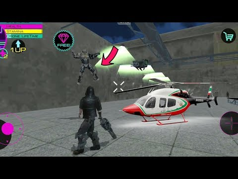 Cyber Future Crime - (Fight Future Robotic Army with Drone Defender) - Theft Future Army Helicopter