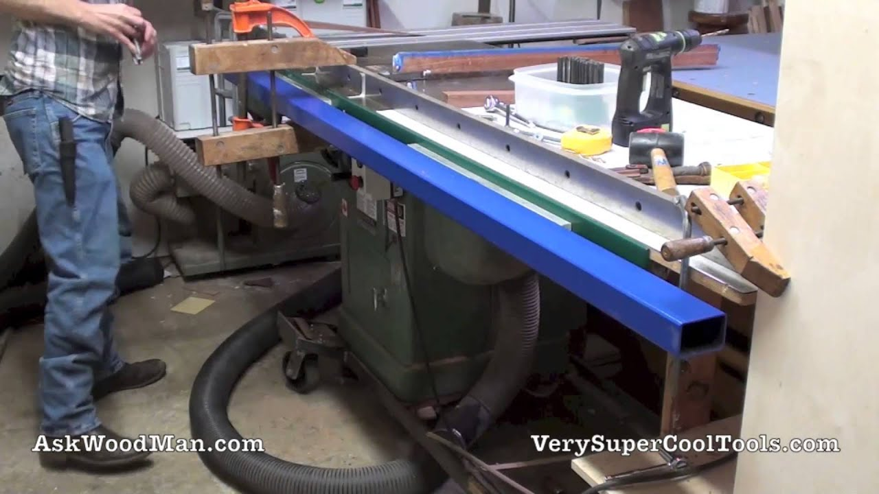 4 Of 5 Installing Shop Made Table Saw Guide Rails Diy Biesemeyer Style Guide Rail Series