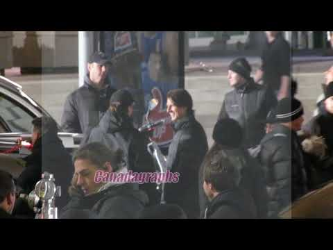 Tom Cruise meeting fans and waiting to film scenes for Mission Impossible 4 in Vancouver