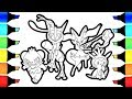 Pokemon Friends Coloring book pages Greninja and Pancham I How to colour pokemon