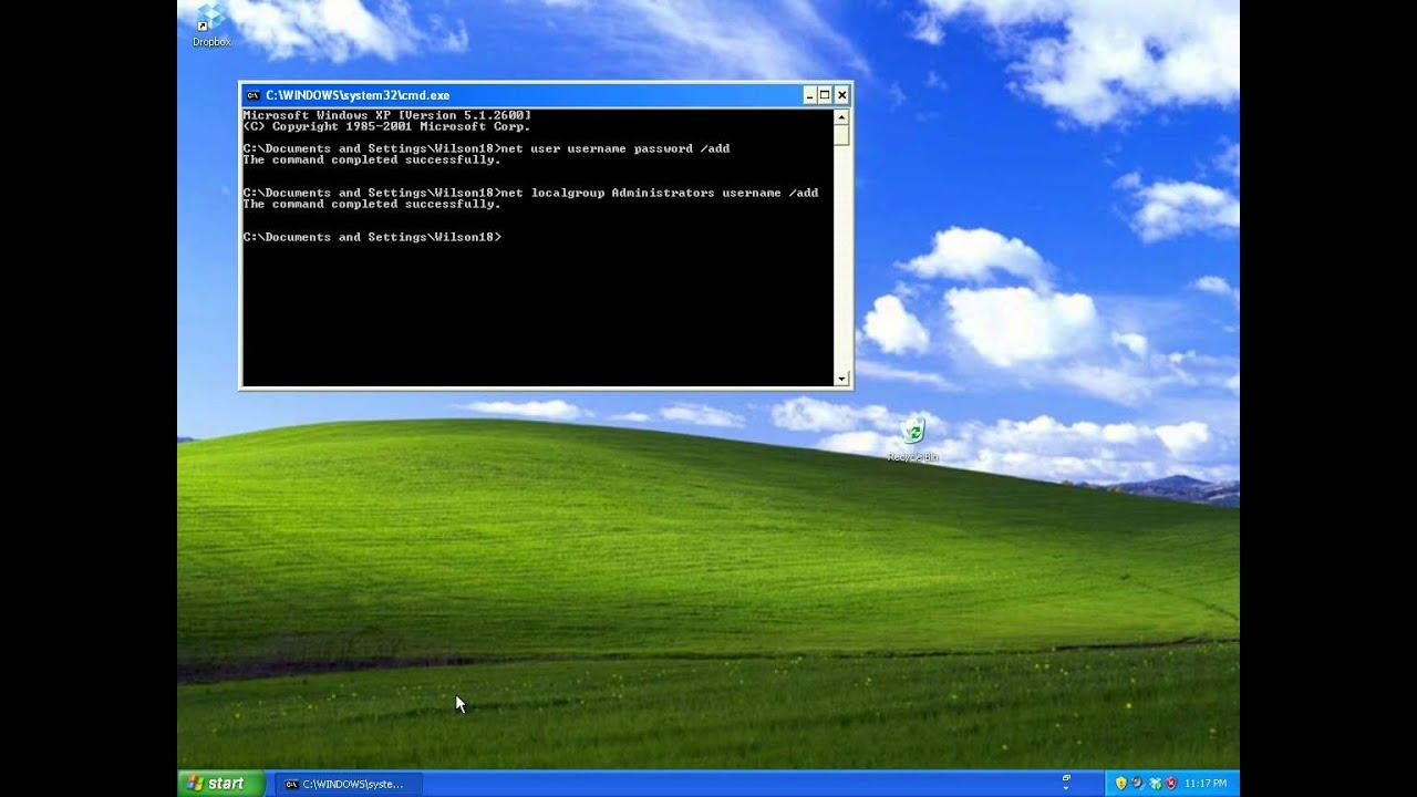 Администрирование учетными записями в Windows XP