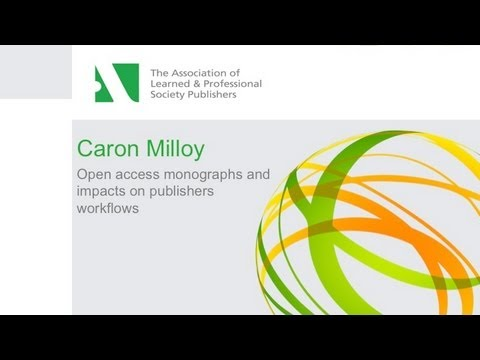 Open access monographs and impacts on publishers workflows