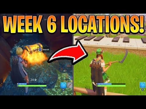 Fortnite ALL WEEK 6 CHALLENGES GUIDE!  SHEET MUSIC Locations, Secret Banner Battle Royale Season 6