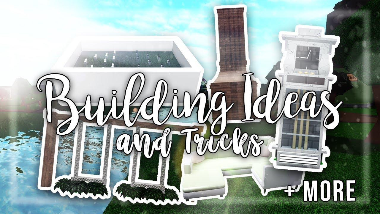 Roblox Bloxburg Building Ideas And Tricks Building Tips Youtube