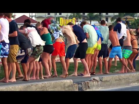 St. Maarten - Air France A340 - 7th amazing Jet-blast Challenge (7. plane of 8)