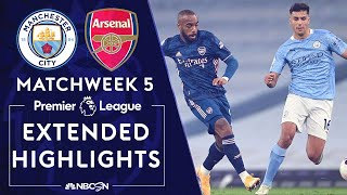 Manchester City v. Arsenal | PREMIER LEAGUE HIGHLIGHTS | 10/17/2020 | NBC Sports