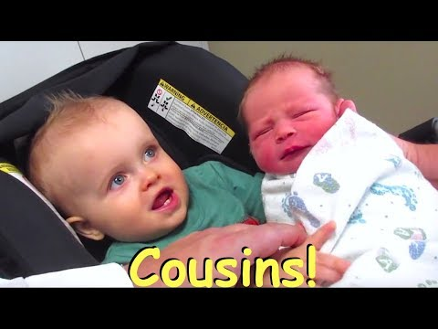 👶Baby Roswell meets his big cousin Nixon!👶