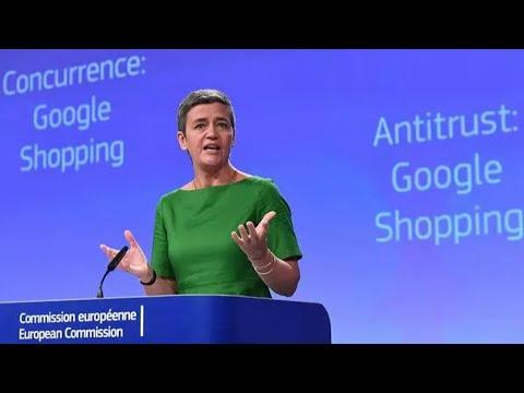 Google Fined Record $2.7 Billion in E.U. Antitrust Ruling
