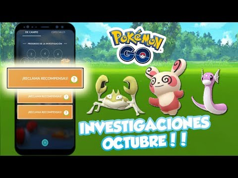 LISTA CORRECTA DE INVESTIGACIONES OCTUBRE Y RECOMPENSAS en Pokémon GO thumbnail