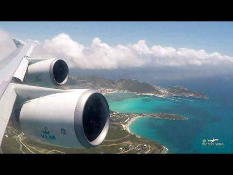 Flight St. Maarten - Curaçao SXM - CUR (KLM 747)