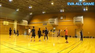 【男女混合バレーボール】All41-5 EVA点ゲーム[Commentary]解説 Men and Women Mixed Volleyball JAPAN TOKYO
