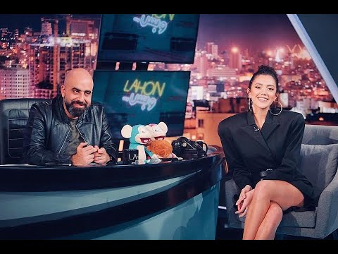 "Actress Stephanie Atala is a guest on ""Lahon w Bass"" with Hicham Haddad. - ستيفاني عطاالله Stephanie Atala"