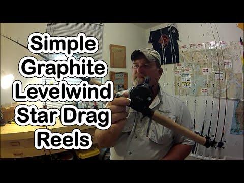 SIMPLE, GRAPHITE LEVELWIND STAR DRAG REELS