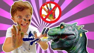Лёва и весёлые истории про Правила поведения для детей и динозавра