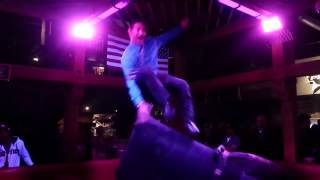 MAN DANCES ON BULL