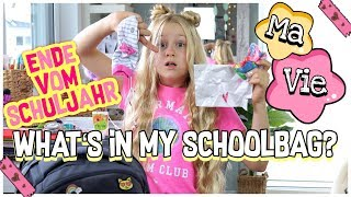 WHAT'S IN MY SCHOOLBAG ? **LIEBESBRIEF ?** SCHULJAHR ENDE | MaVie Noelle