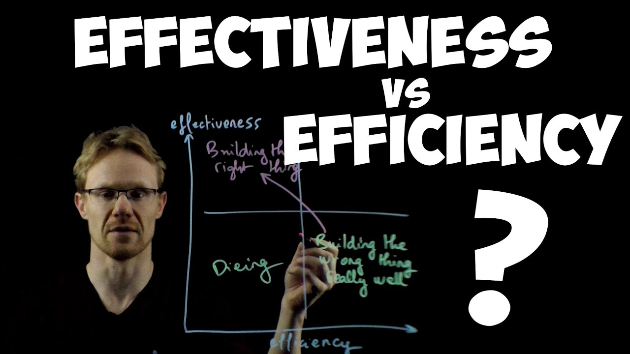 Download Effectiveness vs Efficiency: which one is more important for agile?