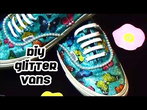 DIY GLITTER VANS