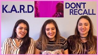 K.A.R.D - DON'T RECALL MV REACTION