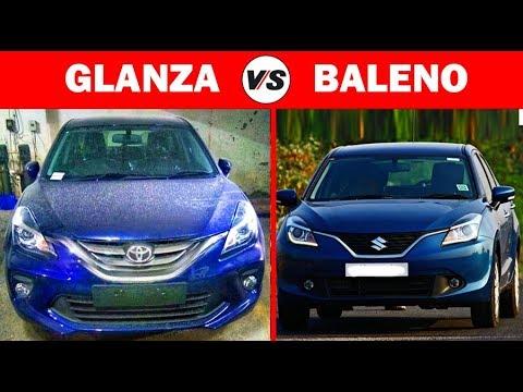 Comparison: Toyota Glanza VS Maruti Baleno - YouTube