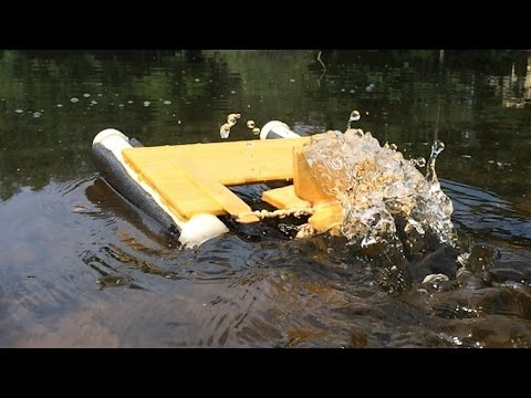 Rubber Band Powered Boat Trials - Sage School Project