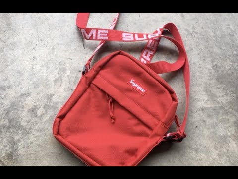 354e0805ba Supreme Shoulder Bag SS18 Review - Cherry Red - YouTube