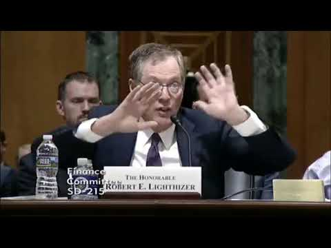 Trade Representative Lighthizer On Tariffs: We Have The Biggest Trade Deficit In History With China