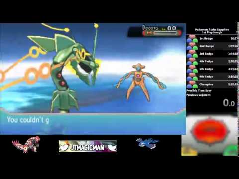 Pokemon Alpha Sapphire Mega Rayquaza Vs Deoxys Youtube