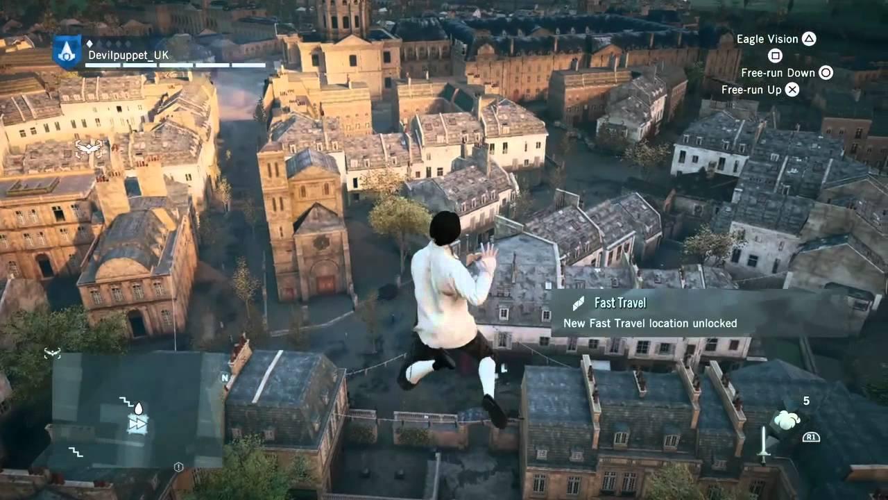 Assassins Creed Unity Arno Fails The Leap Of Faith