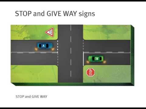 SA Road Rules - Giving Way