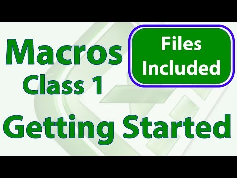 Excel Macro Class 1 - Getting Started Programming Macros