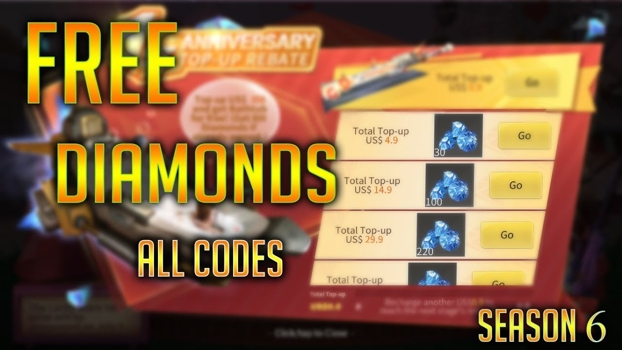 NEW REDEEM CODES FOR GETTING LOTS OF DIAMONDS | CREATIVE ...