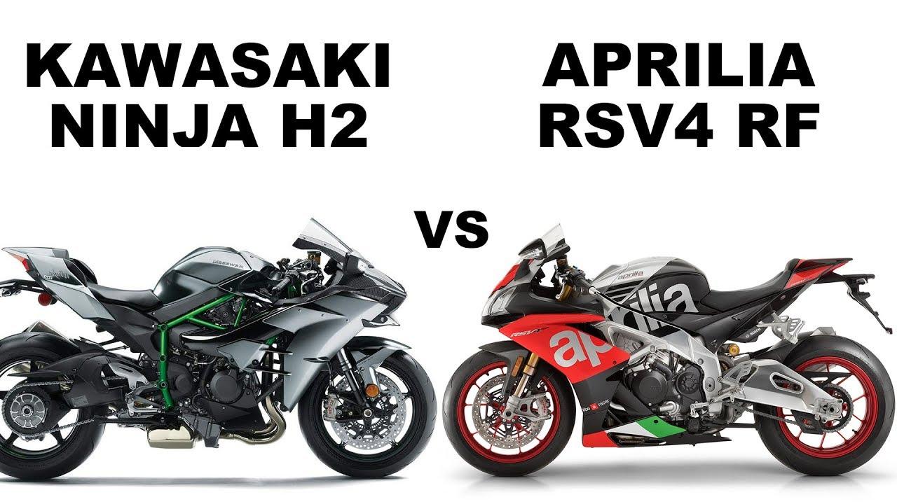Kawasaki Ninja H2 vs Aprila RSV4 RF-Compare - YouTube