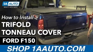 How To Install Trifold Tonneau Cover 97 03 Ford F150 Youtube