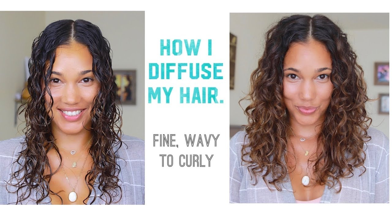 Diffusing Technic For Fine Wavy To Curly Hair Youtube