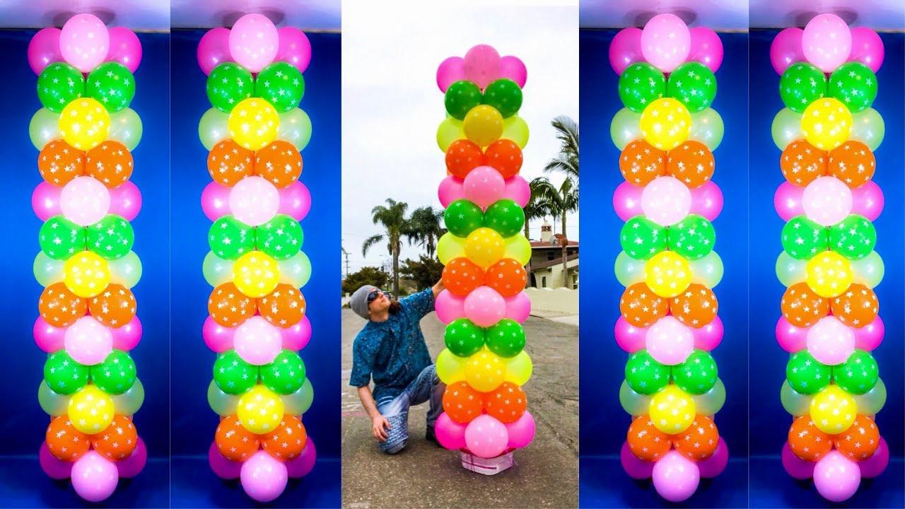 Giant Dollar Store Balloon Columns