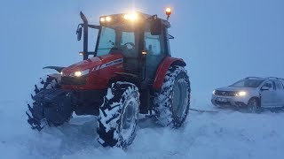 We went to rescue the stranded mountain! | A Day With Massey Ferguson 5440 # 4