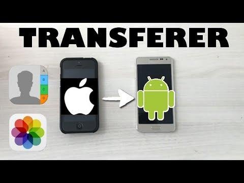 Transférer Vos Photos & Contacts D'un Android à Un Iphone !!
