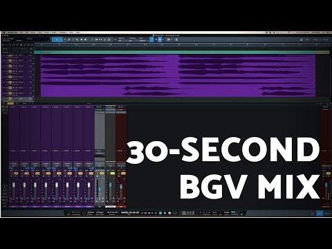 Mix Background Vocals in 30 Seconds