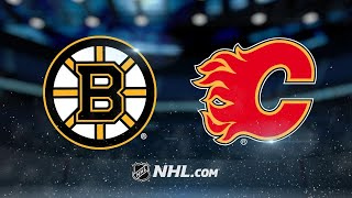 Marchand lifts Bruins to OT win against Flames, 2-1