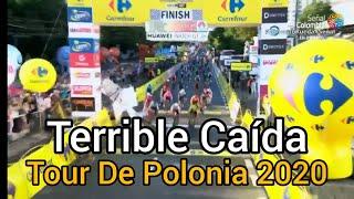 Terrible Caída Tour De Polonia 2020 - Caída en el Sprint