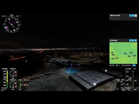Flying over Glen A Wilson High School in Microsoft Flight Simulator 2020