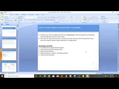 Download SAP Successfactors Online Training/Workshop/Course Free Demo Class