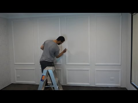 make a feature wall under $100 – budget DIY   interior design