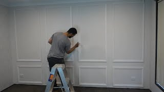 make a feature wall under $100 - budget DIY   interior design