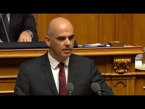 Wahl von Alain Berset zum Bundespräsidenten für 2018 am 6.12.2017 - Election du président 2018
