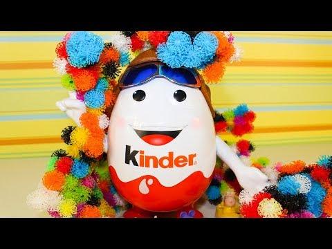 Видео, Мультики для детей Игрушки Киндер Сюрприз Свинка Пеппа Мультфильмы для малышей про машинки