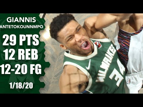 Giannis Antetokounmpo Drops 29 And 12 On The Nets | 2019-20 NBA Highlights