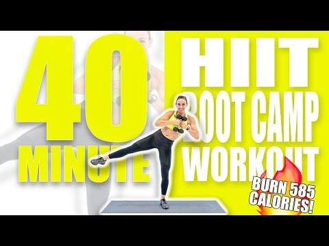 40 Minute HIIT Boot Camp Workout 🔥Burn 585 Calories! 🔥Sydney Cummings